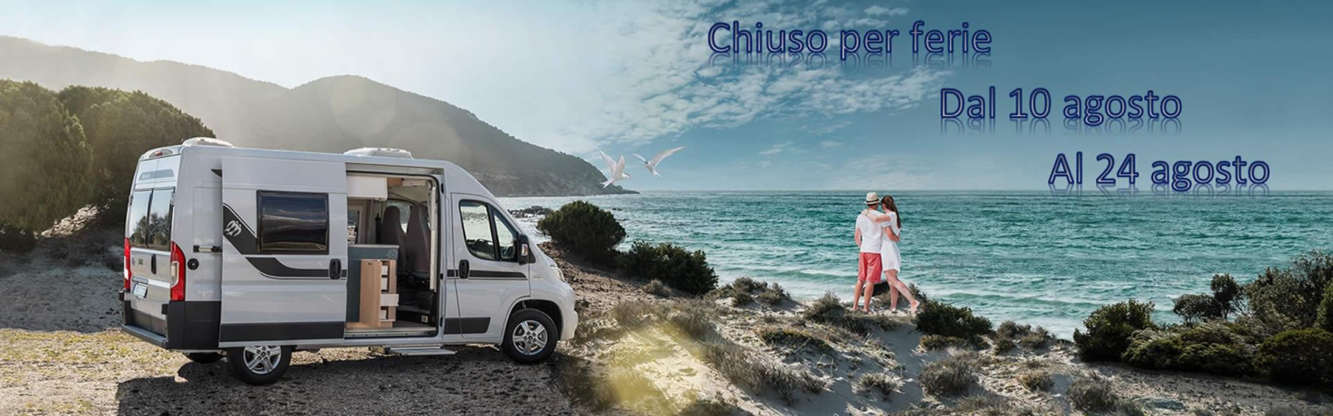eurovacanze vendita camper caravan, chiuso per ferie